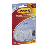 Command Utensil Hooks Clear - 3 CT