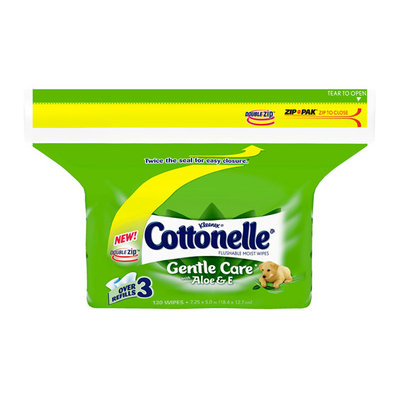 Kleenex Cottonelle Cottonelle Gentle Care Flushable Moist Wipes with Aloe & E