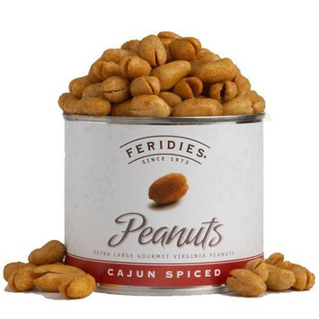 FERIDIES Classic Cajun Virginia Peanuts, 9-Ounce Cans (Pack of 4)