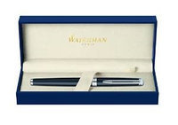 Waterman Hemisphere Matte Black with Chrome Trim Medium Point Fountain Pen
