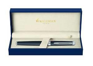 Waterman Hemisphere Matte Black with Chrome Trim Medium Point Fountain Pen