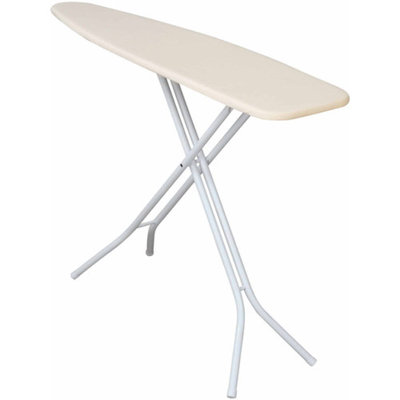 Household Essentials White 25 Mm Four Leg Ironing Board