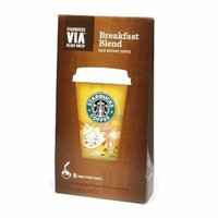 Starbucks Coffee Via Instant Coffee, Breakfast Blend, 8 ea