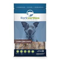 Barkworthies All Natural Lamb Lung Chips Dog Treats