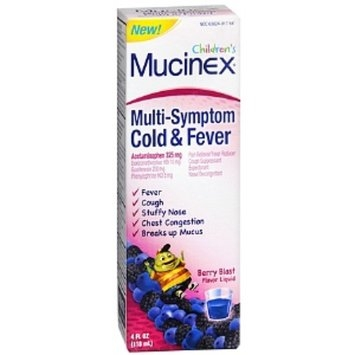 Mucinex Multi Symptom Children's Liquid - Cold & Fever