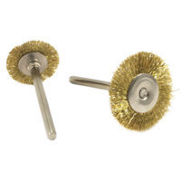 Forney 60213 Brass Brush Set with 3/32 Inch Shaft 1 Inch and 3/4 Inch 2 Piece
