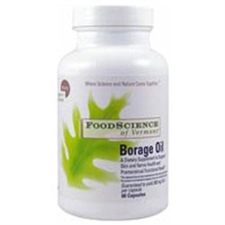 Frontier Borage Oil 1300 mg, 60 Capsules, FoodScience Of Vermont