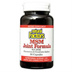 MSM Joint Formula 90 Capsules, Natural Factors
