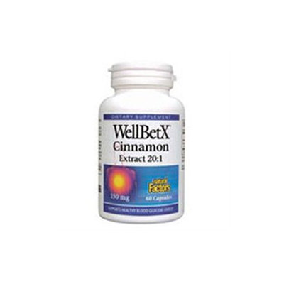 Natural Factors WellBetX Cinnamon Extract - 150 mg - 60 Capsules