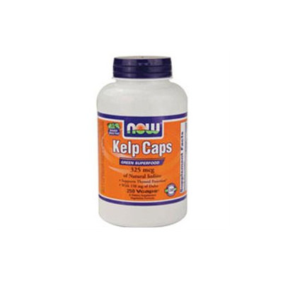 NOW Foods - Kelp Caps Green Superfood 325 mcg. - 250 Vegetarian Capsules