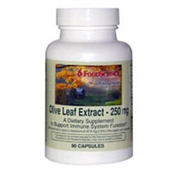 FoodScience of Vermont Olive Leaf Extract 250 mg Capsules