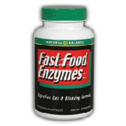 Fast Food Enzymes, 30 Veggie Caps, Natural Balance