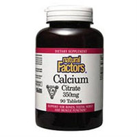 Calcium Citrate 350 mg by Natural Factors - 90 Tablets
