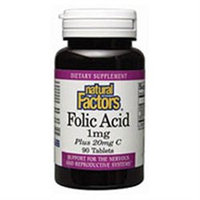 Folic Acid 400 mcg by Natural Factors - 90 Tablets