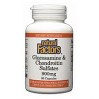 Glucosamine & Chondroitin Sulfates by Natural Factors - 60 Capsules