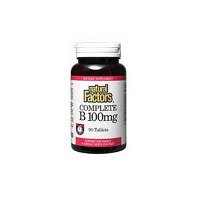 Natural Factors - Complete B Time Release 100 mg. - 90 Tablets