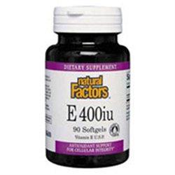 Vitamin E 400 IU by Natural Factors - 180 Softgels