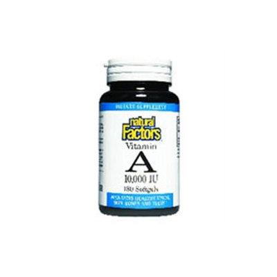 Vitamin A 10000 IU 180 Softgels, Natural Factors