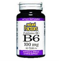 Natural Factors - Vitamin B6 Pyridoxine HCl 100 mg. - 90 Tablets