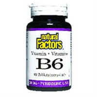 Natural Factors - Vitamin B6 Pyridoxine HCl 50 mg. - 90 Tablets