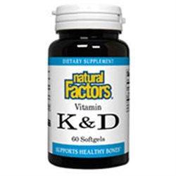 Natural Factors - Vitamin K & D - 60 Softgels
