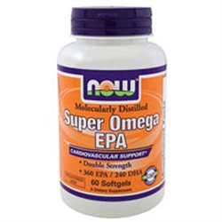 NOW Foods - Super EPA Double Strength - 60 Softgels CLEARANCE PRICED