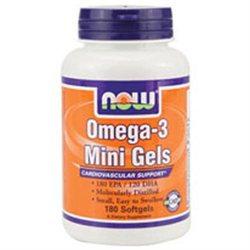 NOW Foods - Omega-3 Fish Oil Mini Gels - 180 Softgels