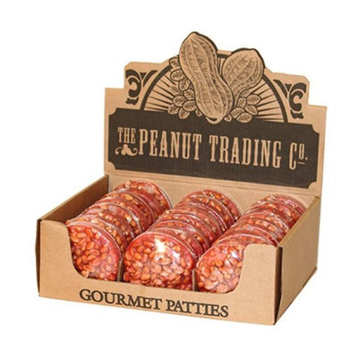 Oak Alley Farms 3247-GPC Giant Peanut Pattie - 24ct Counter Display