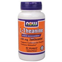 NOW Foods - Theanine 100 mg. - 90 Vegetarian Capsules