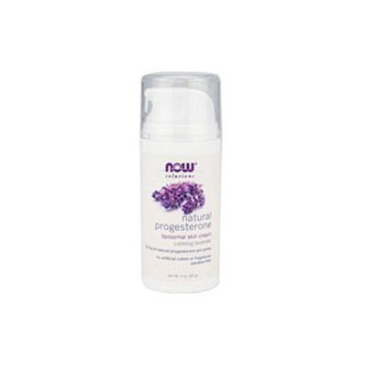 NOW Foods Natural Progesterone Liposomal Skin Cream with Lavender, 3 oz
