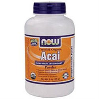 NOW Foods - Certified Organic Acai Super Fruit Antioxidant Powder - 3 oz.