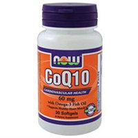 NOW Foods - CoQ10 Cardiovascular Health with Omega-3 Fish Oil 60 mg. - 30 Softgels