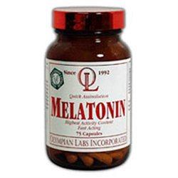 Olympian Labs Melatonin - 3 mg - 75 Vegetarian Capsules
