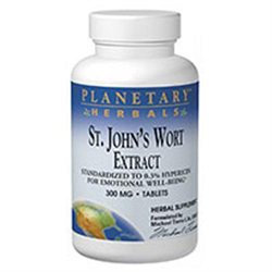St. John's Wort Extract 300 mg 90 Tabs from Planetary Formulas