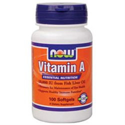 NOW Foods - Vitamin A 10000 IU - 100 Softgels