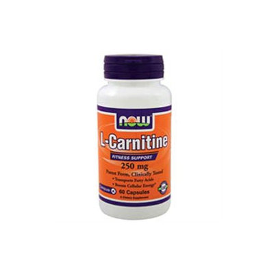 NOW Foods - L-Carnitine Pharmaceutical Grade 250 mg. - 60 Capsules