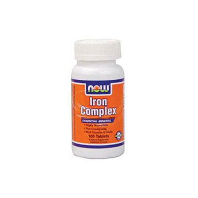 NOW Foods - Iron Complex Vegetarian - 100 Tablets