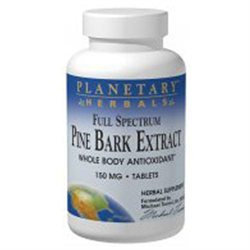 Planetary Herbals Full Spectrum Pine Bark Extract - 150 mg - 60 Tablets