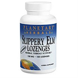 Planetary Herbals Slippery Elm Lozenges - Unflavored