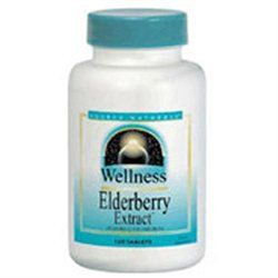 Source Naturals Wellness Elderberry Extract - 500 mg - 60 Tablets