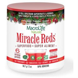 Macro Life Naturals miracle Greens Macro Life Naturals Miracle Reds Berry - 2 oz