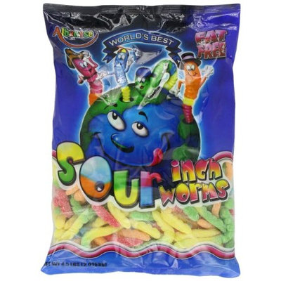 Albanese Sour Inch Neon 4-Inch Worms, 4.5-Pound Bags (Pack of 2)