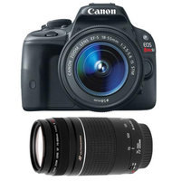 Canon EOS Rebel SL1 Digital SLR Camera & EF-S 18-55mm IS STM Lens with Canon EF 75-300mm f/4-5.6 III Zoom Lens