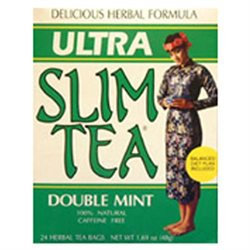 Hobe Laboratories Ultra Slim Tea, Double Mint, 24 Tea Bags, Hobe Labs