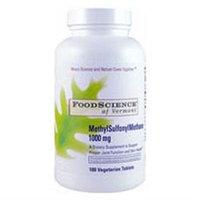 FoodScience of Vermont MethylSulfonylMethane - 1000 mg - 180 Tablets