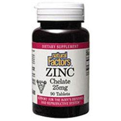 Natural Factors Zinc Chelate - 25 mg - 90 Tablets