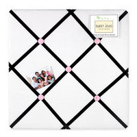 Sweet Jojo Designs Princess Black, White and Pink Collection Memo Board