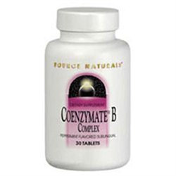 Source Naturals Coenzymate B Complex Sublingual Peppermint - 60 Tablets