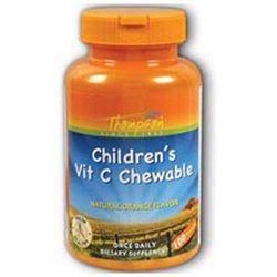 Vitamin C Children's Chewable Orange 100 tabs, Thompson Nutritional Products