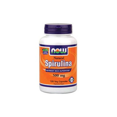 NOW Foods - Spirulina 500 mg. - 120 Vegetarian Capsules